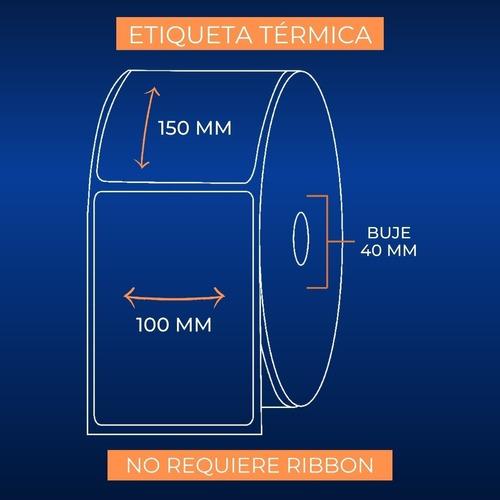 etiquetas térmicas autoadhesivas x 330 un. 100x150 mm