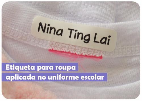 etiquetas termocolantes personalizada identificação uniforme