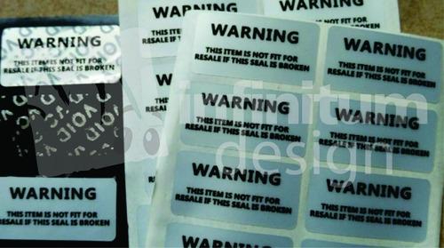 etiquetas void para uso 100% lacrados documentos, cajas, etc
