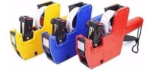 etiqueteadora para precios pistola + paquete 12 rollos papel