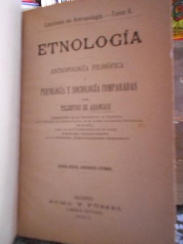 etnología antropología filosófica y psicología y sociología
