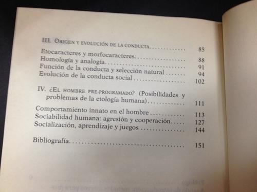 etologia, ciencia actual - josé alsina - anthropos - 1985