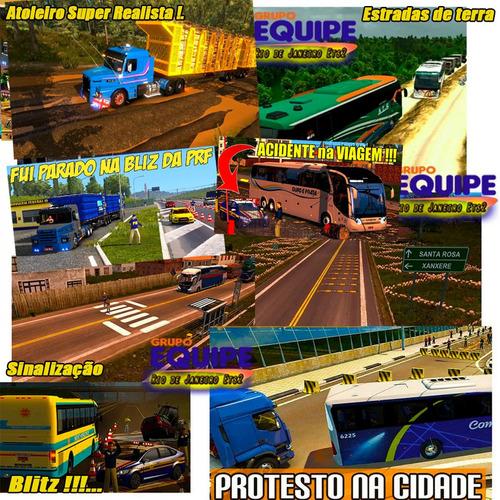 ets2 mod bus brasil 2019 hd c/ 320 cidades envio imediato