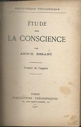 étude sur la conscience - annie besant