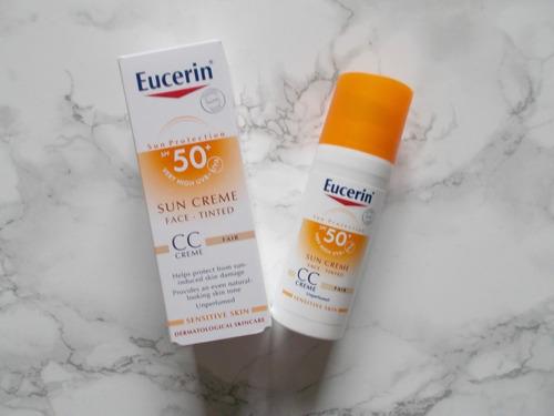 eucerin cc crema sun cream, protector solar fps50 tono medio