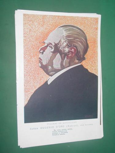 eugenio dors xenius ilustracion dibujos alvarez clipping