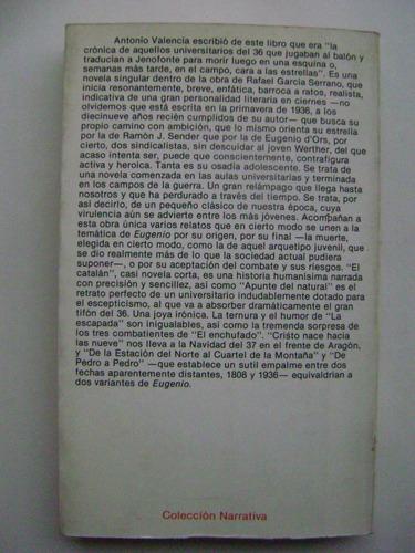 eugenio o proclamación de la primavera/rafael garcía serrano