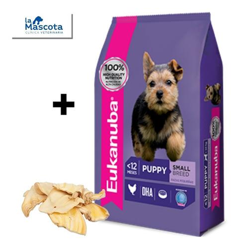eukanuba cachorros raza pequeña 15 kg+ regalo. comida puppy