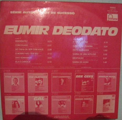 eumir deodato - autógrafos de sucessos - 1973