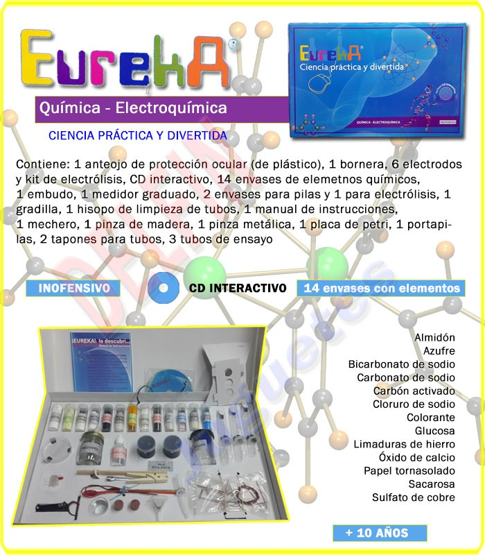 Eureka Ciencia Práctica Juego De Química Y Electroquímica - $ 1.330 ...