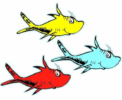 eureka dr. seuss un pez, dos peces surtido de 5 pulgadas re