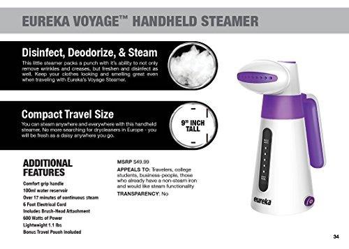 eureka erv2b 100ml tela portatil de mano ropa vapor de la ro
