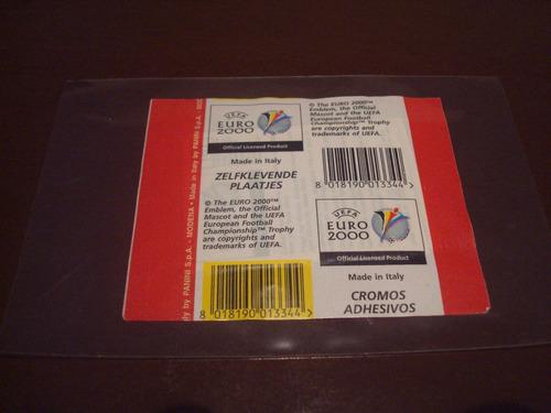 euro 2000 - envelope original - panini - raridade
