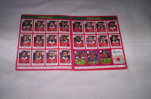 euro 2012 original panini album de figuritas completo...