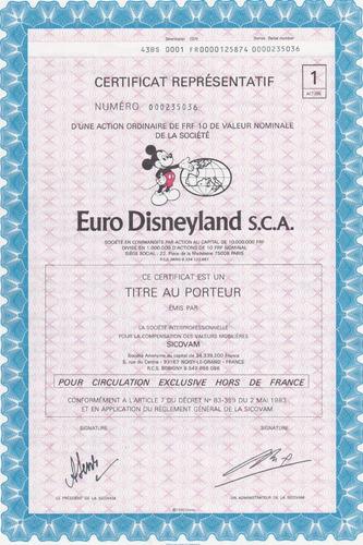 euro disneyland s.c.a.