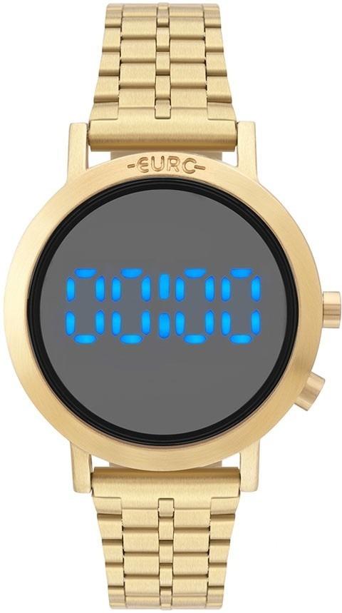 cf20db9c8ea Relógio Dourado Digital Euro Feminino Eubj3407aa t4p - Nf - R  375 ...