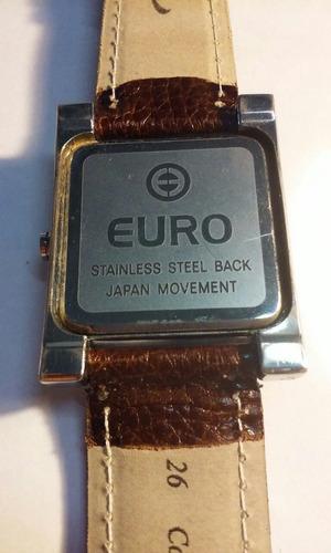 euro masculino relogio