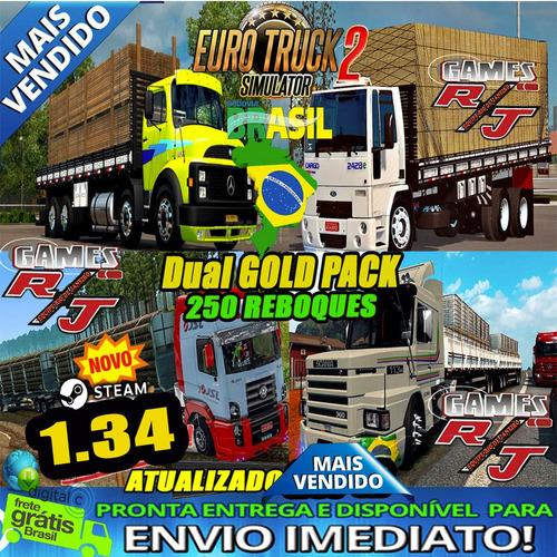 euro truck 2 brasil 2019 dual cargas steam envio imediato