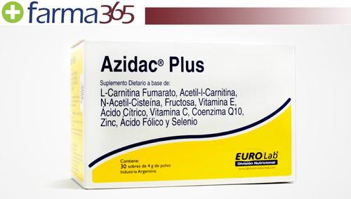 eurolab azidac plus fertilidad masculina 30 sobres