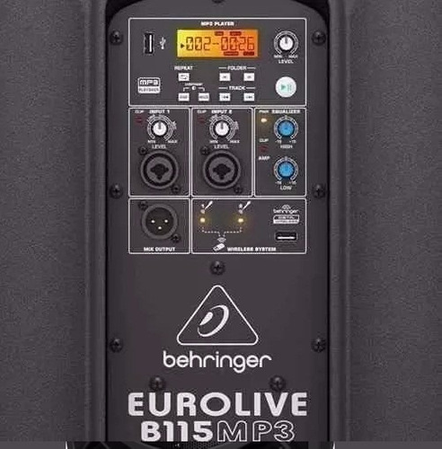 eurolive b115mp3 usb parlante activo behringer 1000w