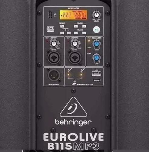 eurolive b115mp3 usb parlante activo behringer 1000w d-carlo