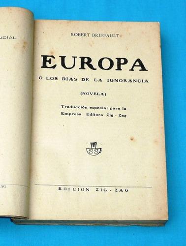 europa o los días de la ignorancia robert briffault novela