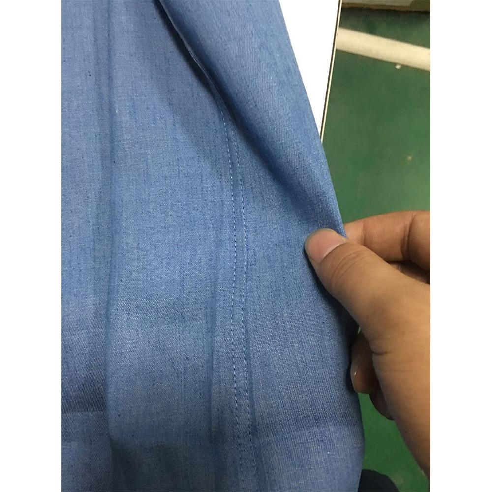 f430dc513e Europa Tamaño Hombres 's Casual Botón Jeans Camisas - $ 12.154 en ...