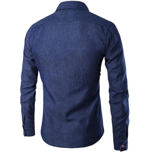 0ffd133c3e Europa Tamaño Hombres 's Casual Botón Jeans Camisas - $ 12.948 en ...