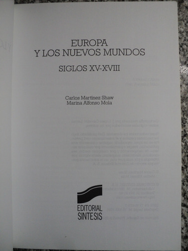 europa y los nuevos mundos siglos xv xviii shaw mola