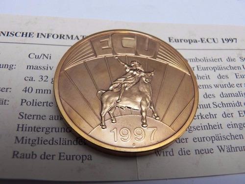 european currency unit - 1 ecu año 1997, con certificado