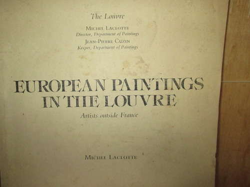 european paintings in the louvre . artist outside france.