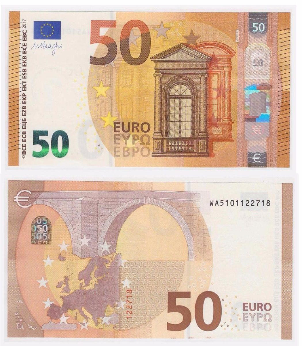european union p new 50 euros 2017 unc nova multinumis r 320 00 em mercado livre. Black Bedroom Furniture Sets. Home Design Ideas