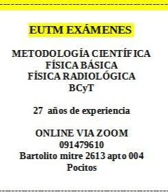eutm  basica metodologia radiológica bcyt exámen online zoom