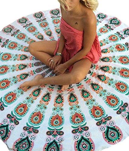 evaless india mandala roundie beach throw tapestry ronda yo