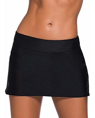 evaless mujer color sólido cintura falda