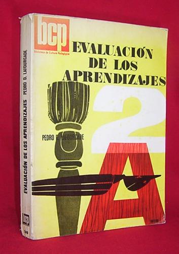 evaluación de los aprendizajes pedro lafourcade / educación