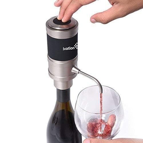evaluador y dispensador de vino eléctrico ivation - operació