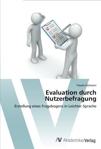 evaluation durch nutzerbefragung; oelmann frauke