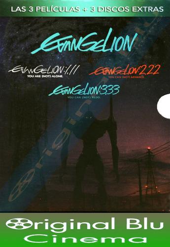 evangelion 1.11/2.22/3.33 - dvd original - almagro