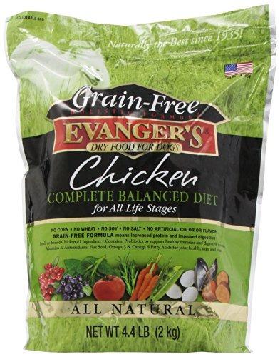 evangers pollo sin cereales con batata y calabaza seco para