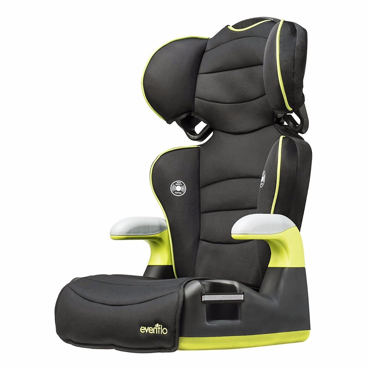 Evenflo silla y asiento elevador para carro amarilla - Altura para ir sin silla en el coche ...