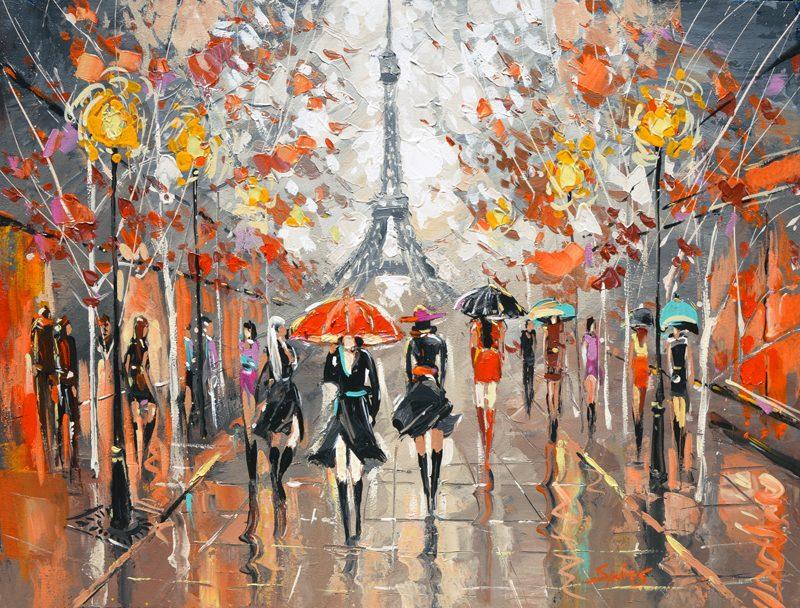Evening paris cuadros pinturas al oleo de dmitry for Pinturas acrilicas para cuadros