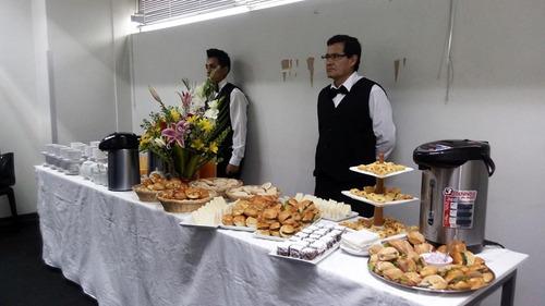 eventos, alquiler de menaje y servicio de buffet