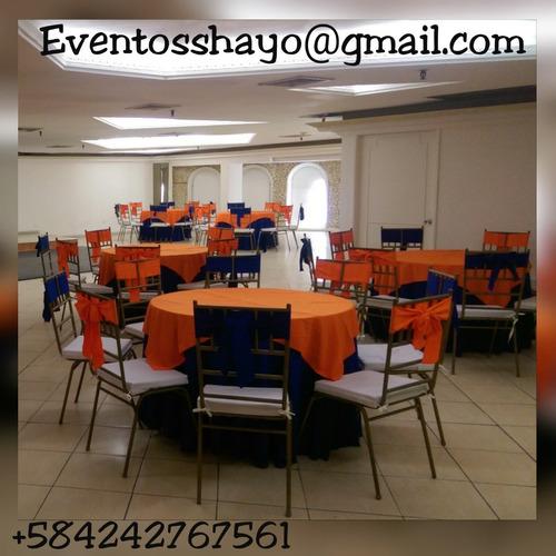 eventos alquiler sillas mesas