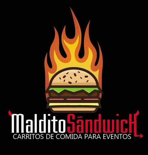 eventos carritos comida. carrito hamburguesas, completos