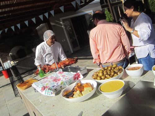 eventos / catering / caja china / parrilla / cilindro.