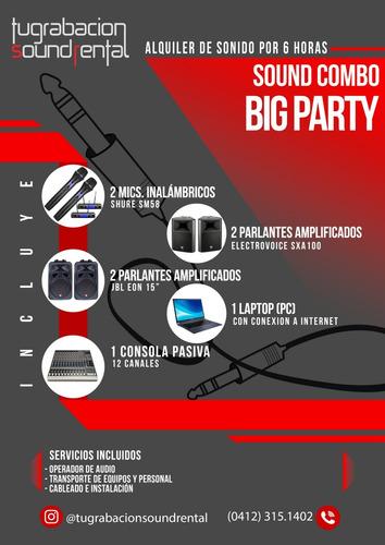 eventos, fiestas sonido