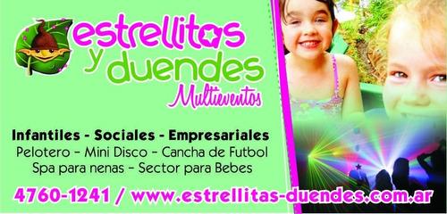 eventos infantiles /sociales /emp  estrellitas y duendes