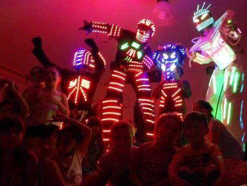 evento/show nitro bot (robot de leds (p/grandes y niños)