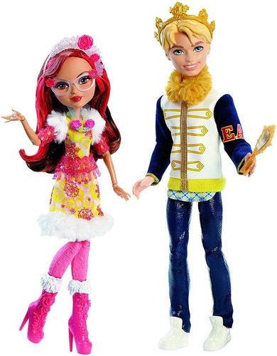 ever after high casal principe daring charming e rosabella